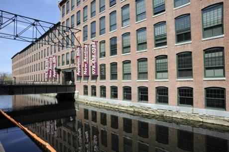 The renovated Appleton Mills property on Jackson Street in Lowell is part of the city's Hamilton Canal District project.